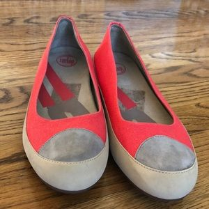 Fitflop Orange & Grey Casual Shoes Sz 12/Euro 42